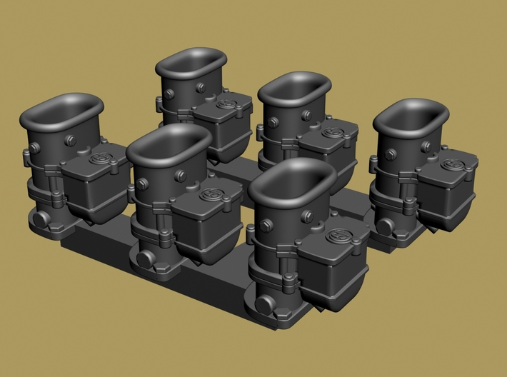 6x2 Stromberg Carbs with SP tops 3d printed