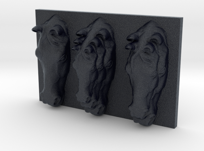 Horses Triptych-Faced Caricature (001) 3d printed