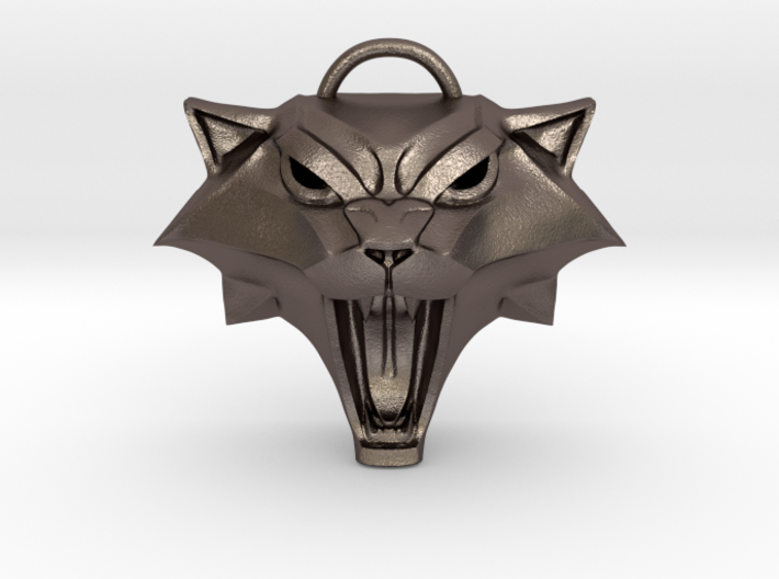 The Witcher: Cat school medallion (metal) 3d printed