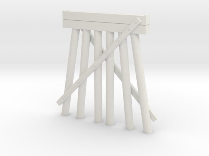 Part E Deck Trestle N (1:160) Modular Six Piles 3d printed