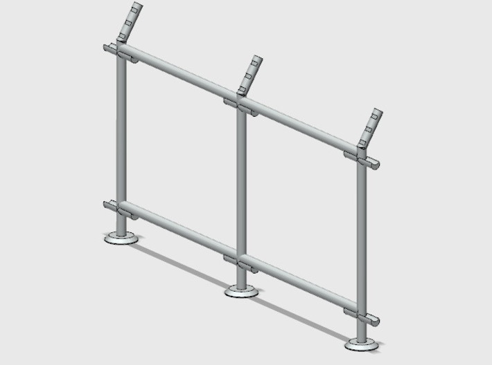 10' Straight Fence Frame, 2-Bay (2 ea.) 3d printed Part # CL-10-018