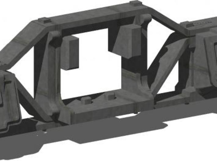 HO 1:87 Flat bottom arch bar side frames for Kadee 3d printed