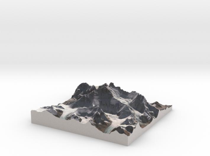 "Mount Everest: 9""x9"" 3d printed"