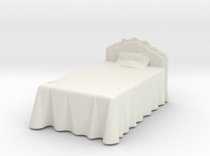 Miniature Victorian Bed 1:48 3d printed