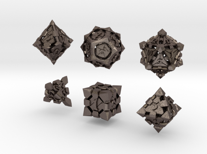 Fortress Dice Set  3d printed