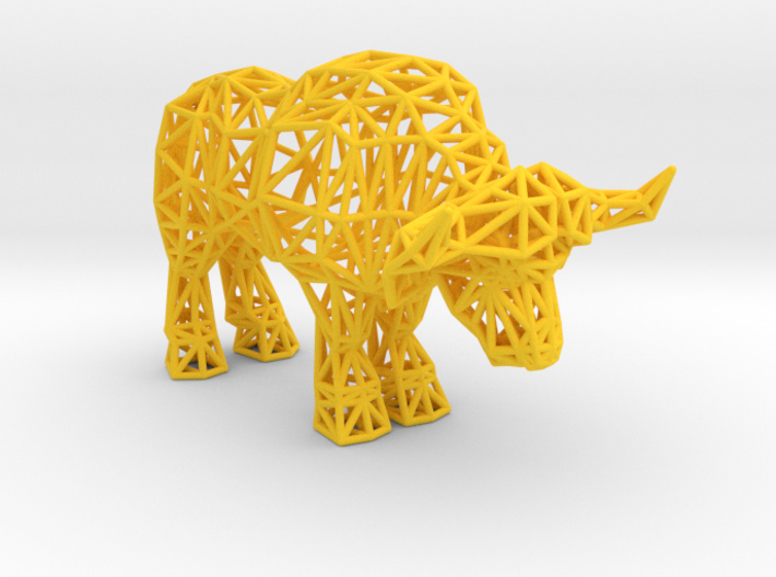African Buffalo (adult male) 3d printed