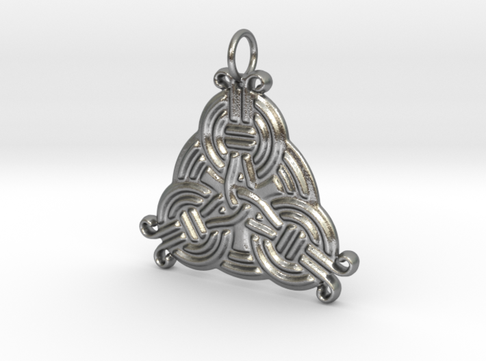 Borre Style Trinity Pendant 3d printed