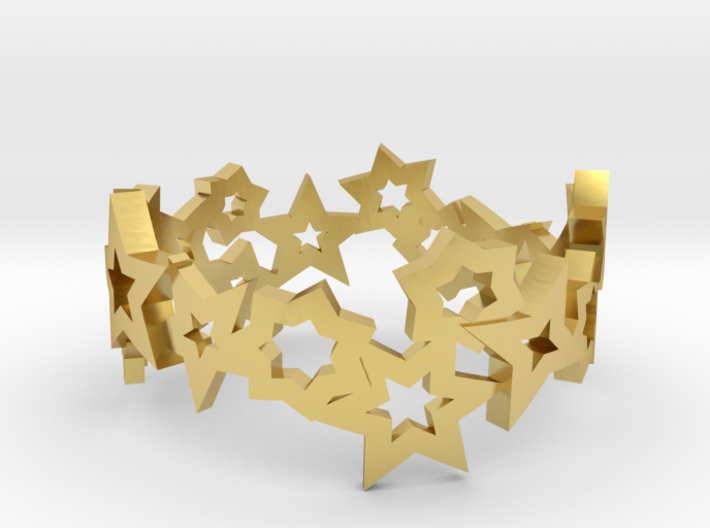Stars Ring 3d printed