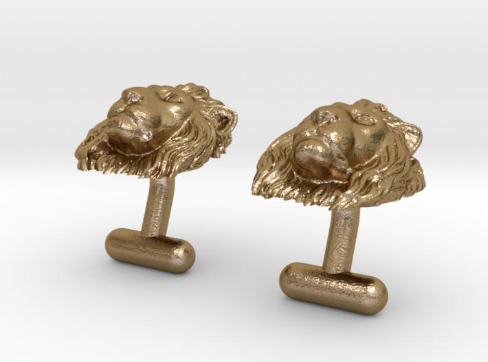 Lion Head Cufflinks 3d printed