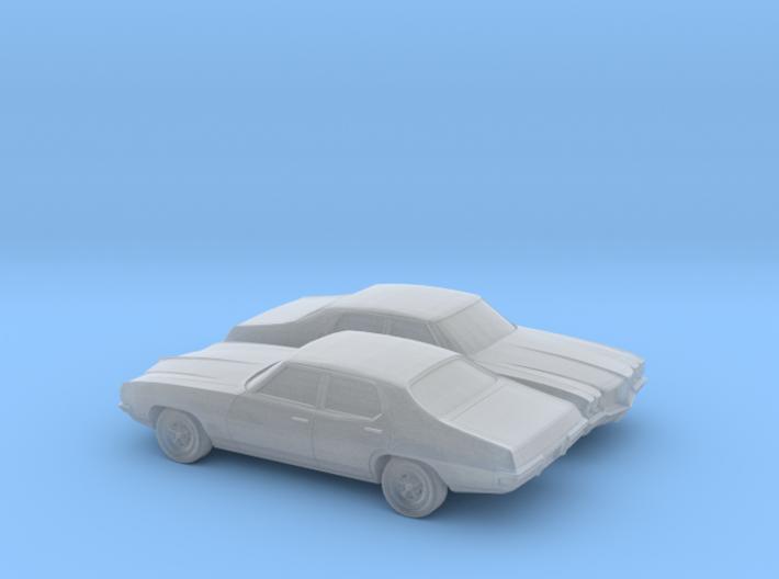 1/160 2X 1968-72 Pontiac Le Mans Sedan 3d printed