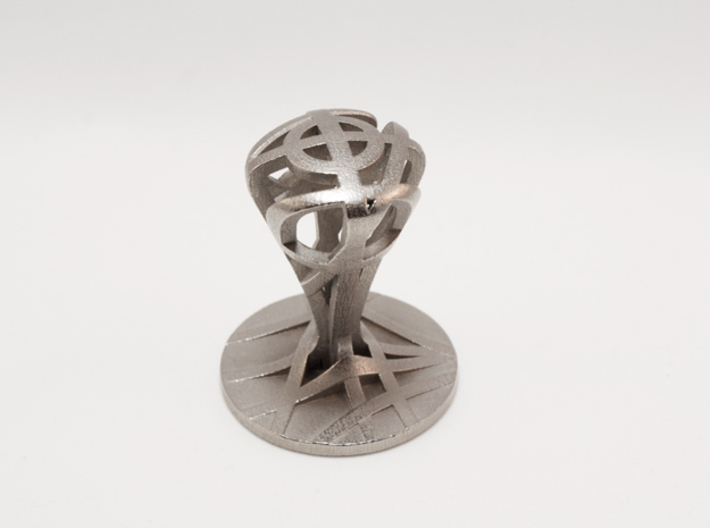 Espresso tamper in stainless steel (49 mm) 3d printed