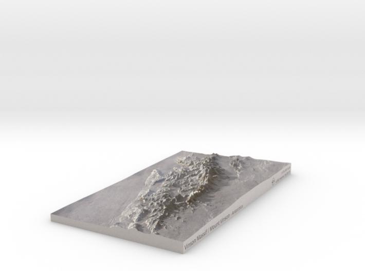 Vinson Massif / Mount Vinson Map 3d printed