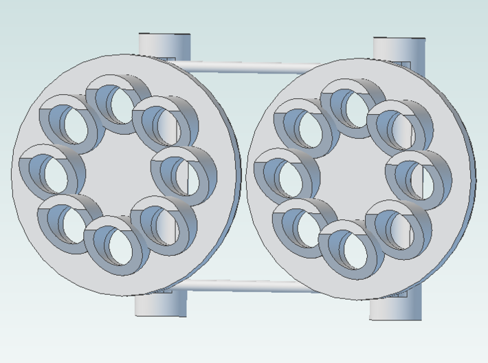 Signal Color Position Light 8 no center pair 3d printed pair of light heads