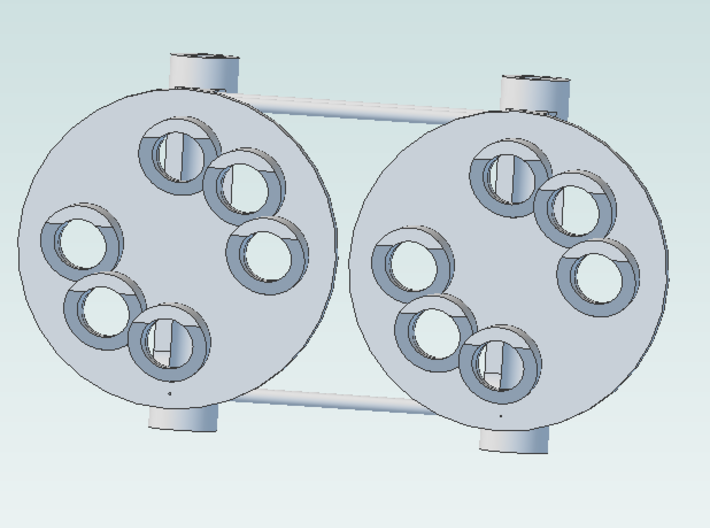Signal Color Position Light 6 no center pair 3d printed pair of lights