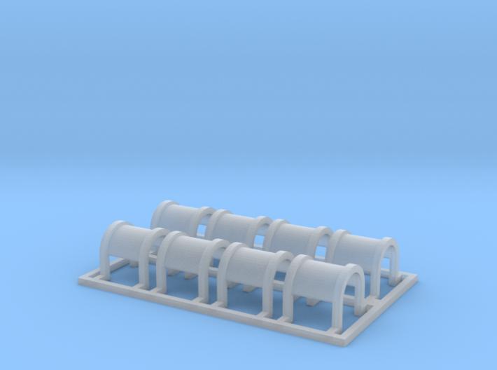 Round Cushion Coil Car Hood Lift Rings  3d printed