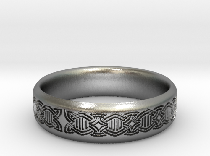 Borre style ribbon ring Size 6.5 3d printed