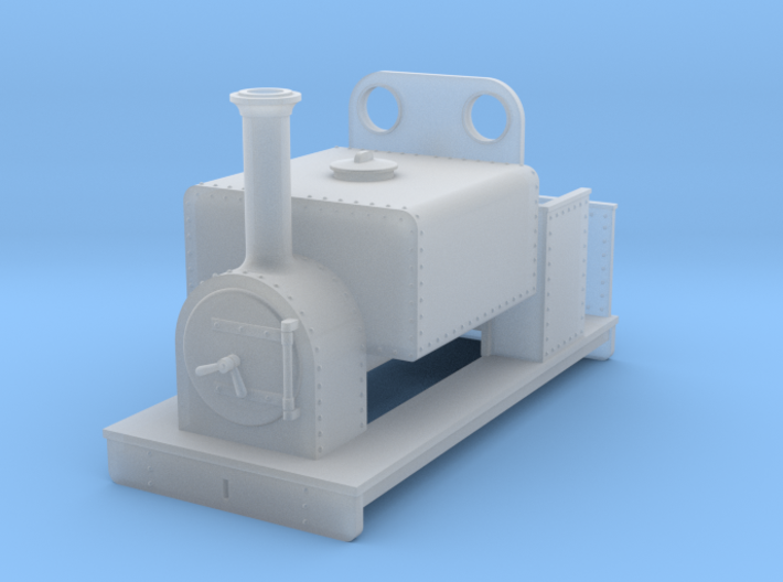 OO freelance 0-4-0T box tank loco type 2 3d printed