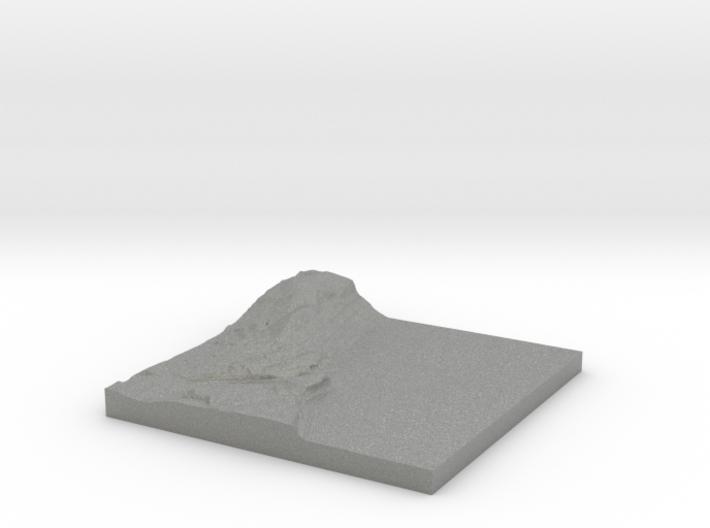 "Piermont Topo Map 2x: 6""x6"" 3d printed"