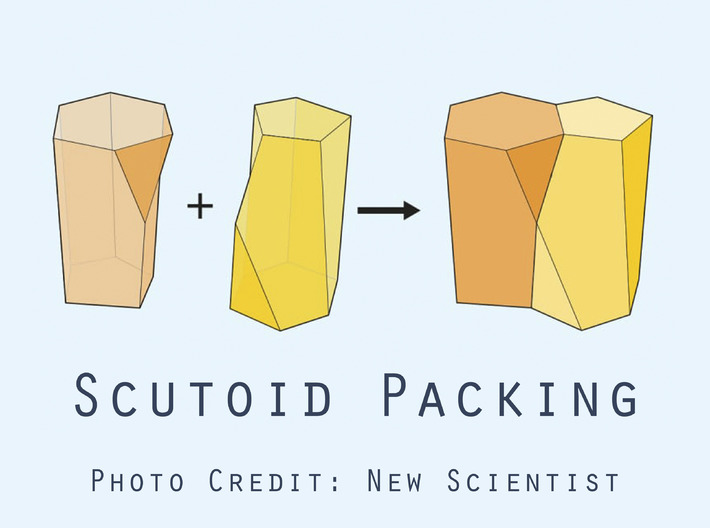 Scutoid Earrings - Mathematical Jewelry 3d printed photo credit scutoid graphic