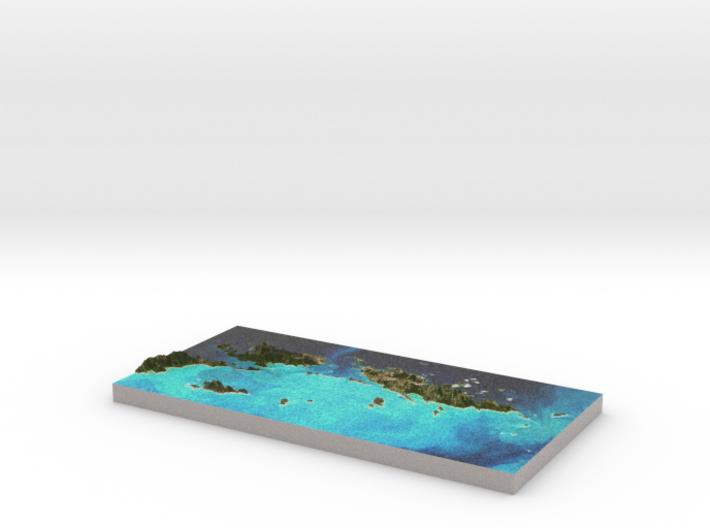 US Virgin Islands Topo Map - St. John / St. Thomas 3d printed