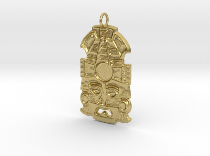 Mayan Mask Pendant (for gemstone) 3d printed