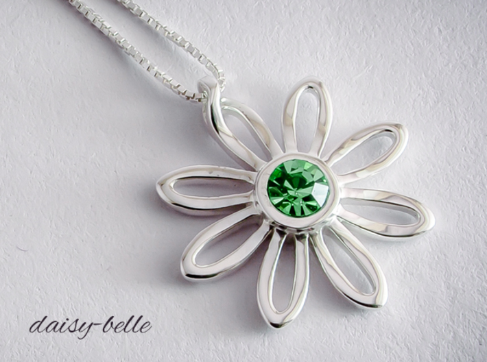 daisy-belle 3d printed Premium Silver.