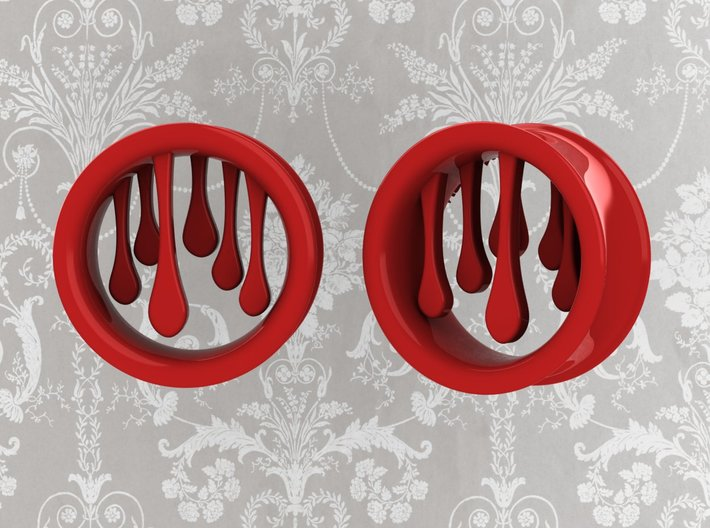 1 Inch Bleeding Tunnels 3d printed Available in multiple sizes!
