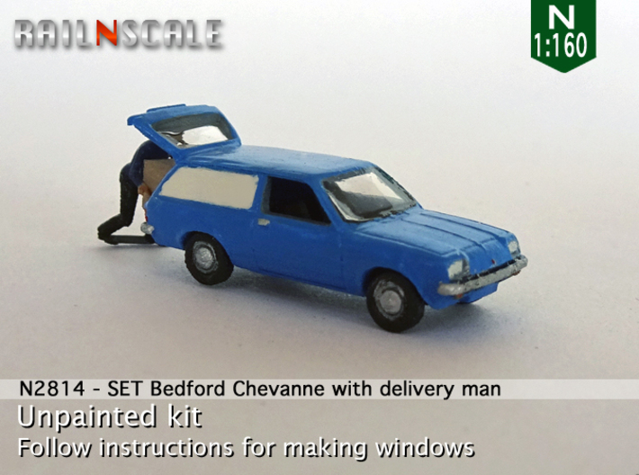 SET Bedford Chevanne with delivery man (N 1:160) 3d printed
