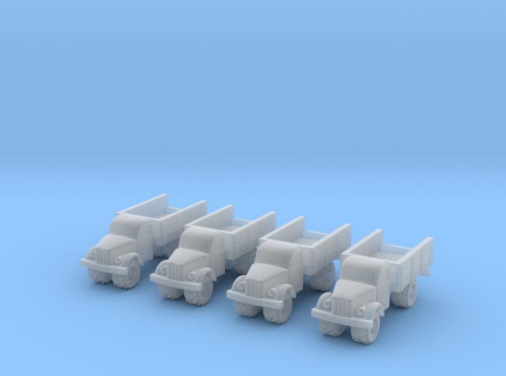 6mm GAZ-63 trucks 3d printed