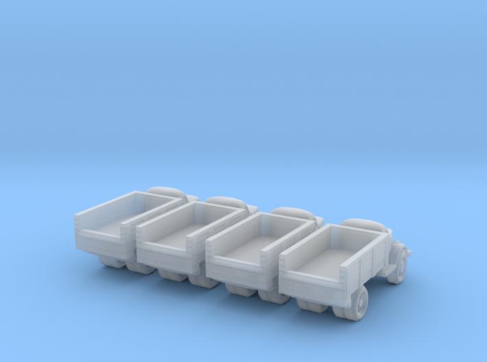 6mm GAZ-51 trucks 3d printed