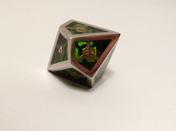D10 Epoxy Dice 3d printed Epoxy is not printed and has to be added later on by the customer