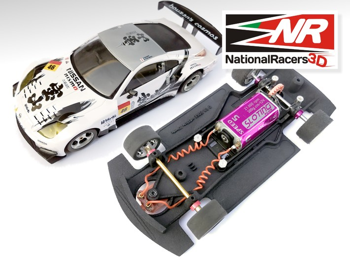 3D Chassis - Ninco Nissan 350Z (Combo) 3d printed Chassis compatible with NINCO model (slot car and other parts not included)