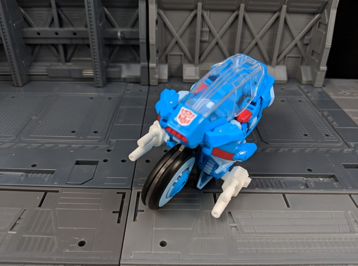 TF Weapon Gun Cannon Smoke Stack Add On 3d printed Used as motorcycle cannons