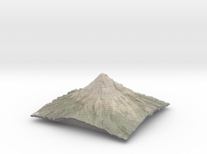 "Mt Taranaki Map - 9"" Contour 3d printed"