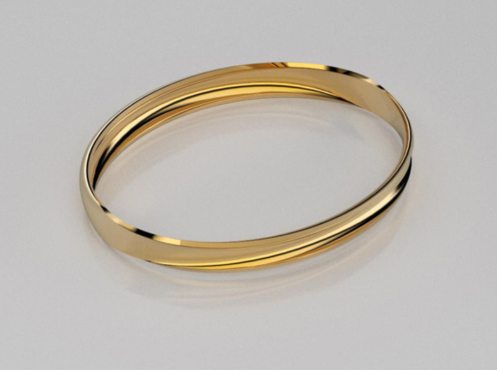 Curved surface bangle 3d printed