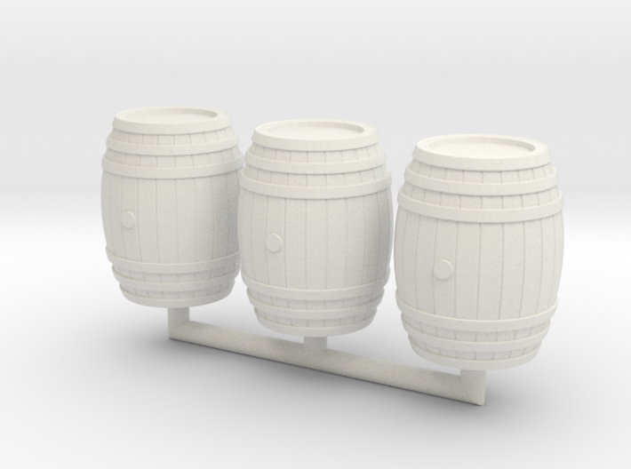 Wooden Barrel 01. 1:24 Scale 3d printed