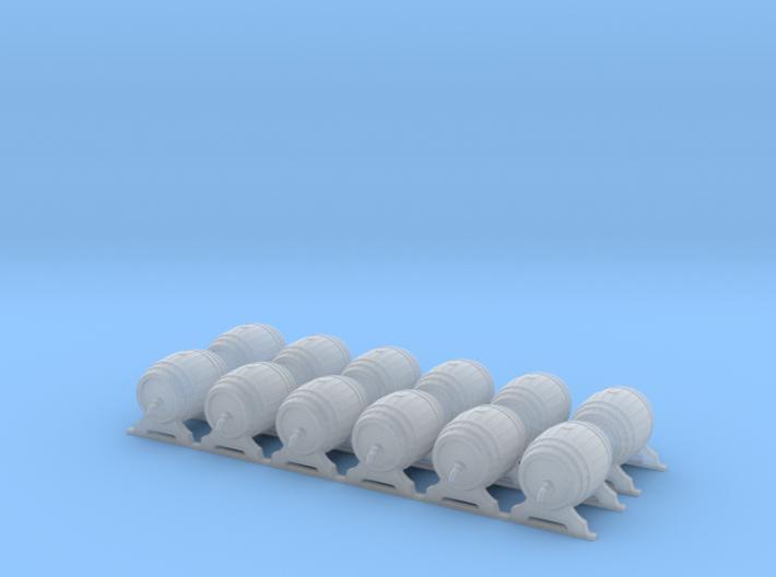 Wooden Barrel 02. HO Scale (1:87) 3d printed