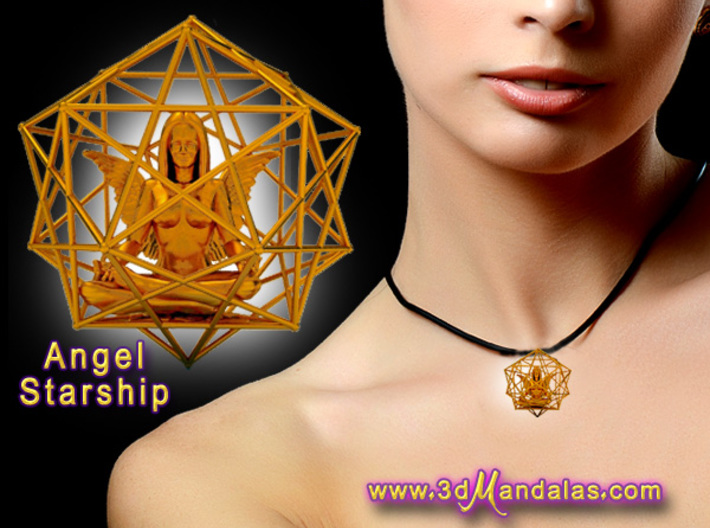 Solar Angel Starship: Sacred Geometry Dodecahedral 3d printed Cant wait to get one of these and upload photos :-)
