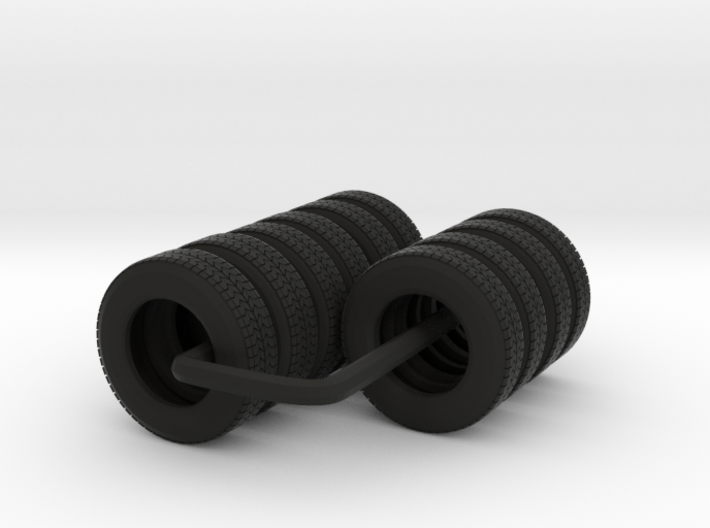 "22.5"" Tandem axle frame tire group 3d printed"