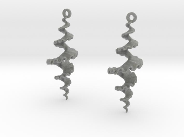 Fractal Sp. Earrings 3d printed