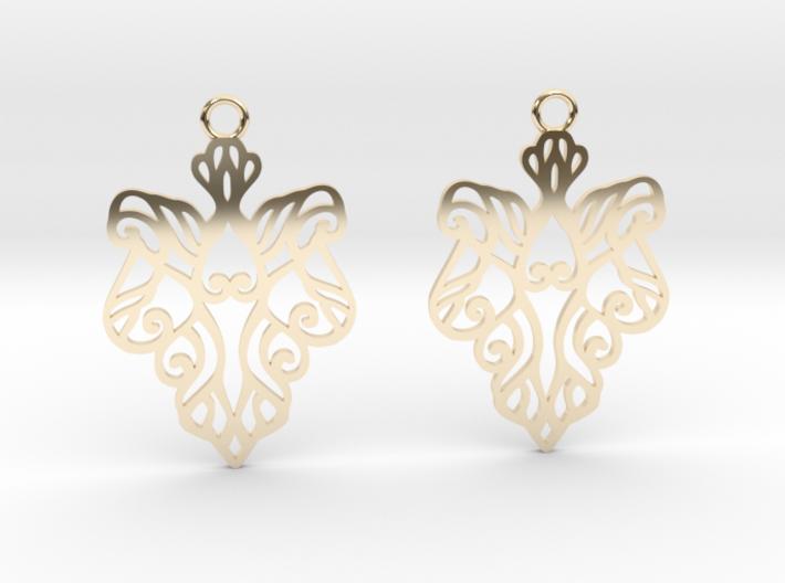 Alarice earrings 3d printed