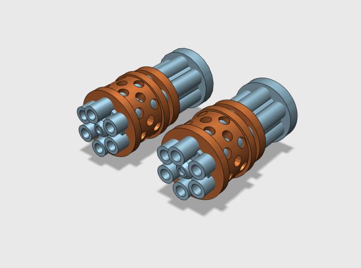Prime Agressor : Gat Barrels 3d printed includes 2 barrels