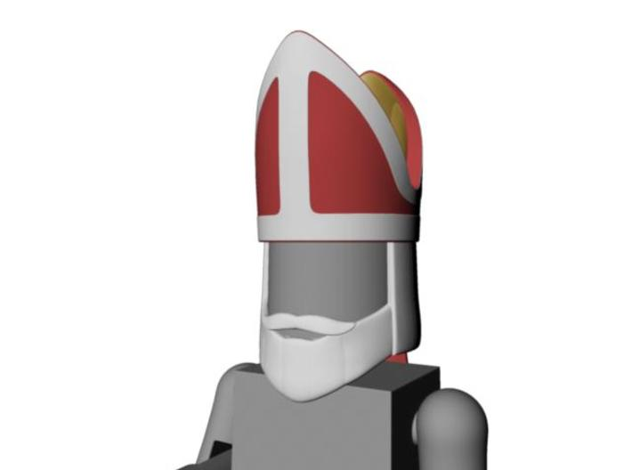 Saint's or Bishop's head for Minimates 3d printed