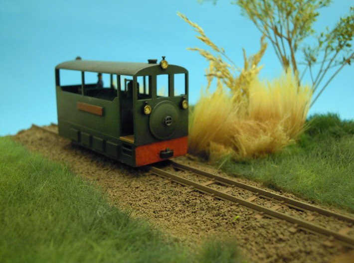 Freelance H0e tramway model loco 3d printed Freelance H0e tramway model locomotive narrow gauge