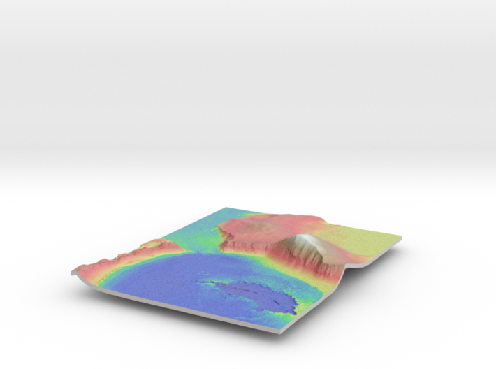 Mars Map: Lava Vent - Vivid 3d printed
