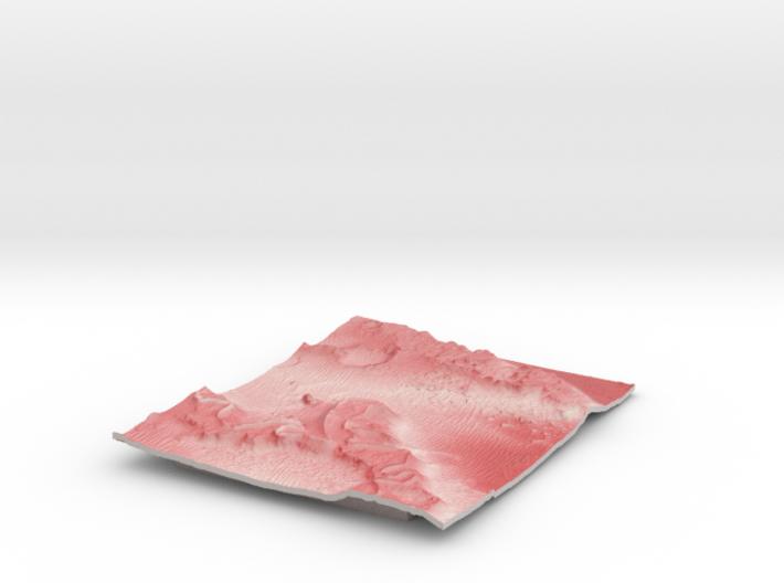 Mars Map: Martian Meanders - Red 3d printed