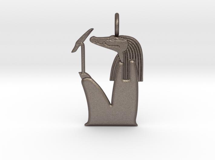 Sobek amulet, no crown version 3d printed