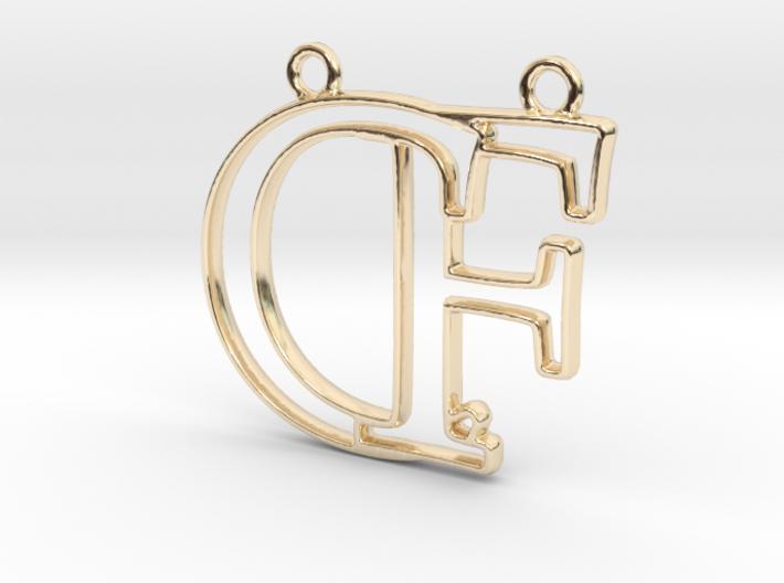Initials C&F monogram 3d printed