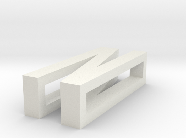 CHOKER SLIDE LETTER N 1⅛, 1¼, 1½, 1¾, 2 inch sizes 3d printed
