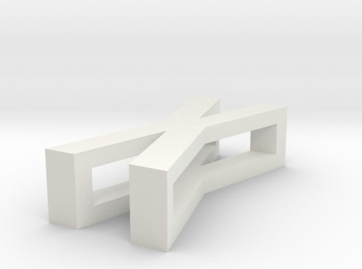 CHOKER SLIDE LETTER X 1⅛, 1¼, 1½, 1¾, 2 inch sizes 3d printed